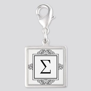 Sigma Greek monogram Charms